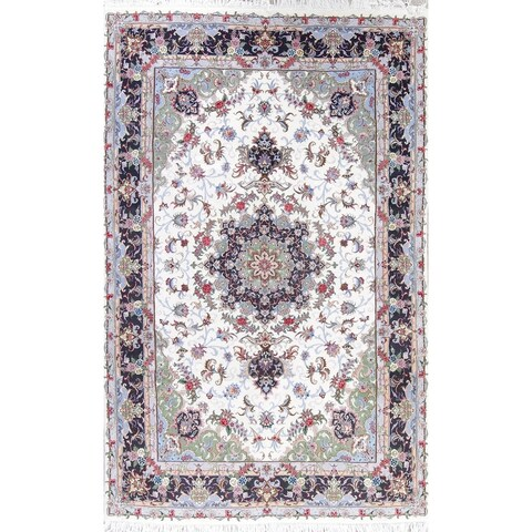 "The Curated Nomad Clyde Kashmar Floral Medallion Hand-knotted Wool/ Silk Persian Area Rug - 9'11"" x 6'4"""