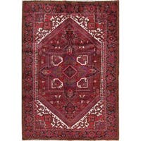 """The Curated Nomad Tattevin Heriz Geometric Hand-knotted Wool Persian Heirloom Item Area Rug - 9'4"""" x 6'6"""""""