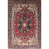 "Gracewood Hollow Hamastegh Heriz Blend Handmade Geometric Handmade Wool Rug - 18'9"" x 13'0"""