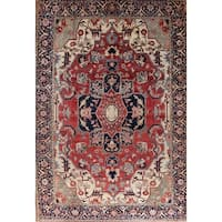 Gracewood Hollow Hamastegh Heriz Blend Handmade Geometric Handmade Wool Rug - 18'9 x 13'0