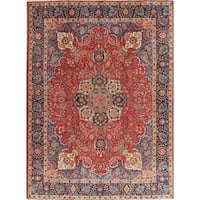 """The Curated Nomad Unsworth Vintage Tabriz Floral Medallion Hand-knotted Wool Persian Heirloom Item Area Rug - 11'5"""" x 8'5"""""""
