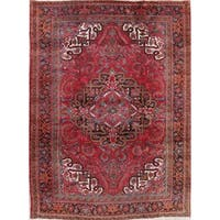 "The Curated Nomad Mears Vintage Heriz Geometric Hand-knotted Wool Persian Heirloom Item Area Rug - 11'2"" x 8'2"""