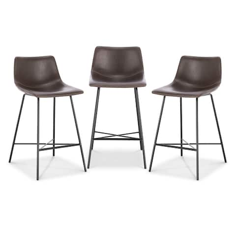 Poly and Bark Paxton 24-inch Counter Stool (Set of 3)