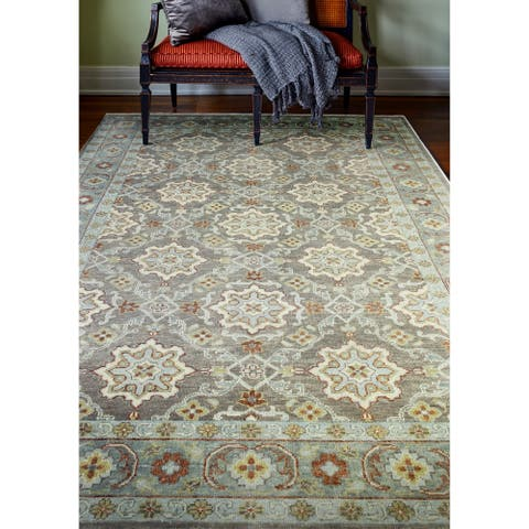 Hand Knotted Ashford Taupe Rug