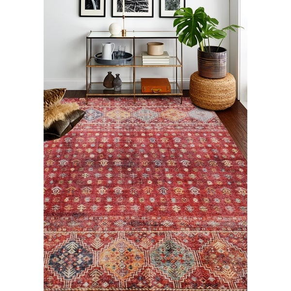 Machine Made Zaidan Rust Rug