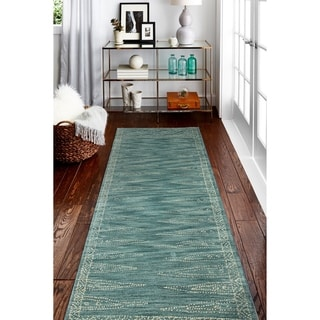 Link to Hand Tufted Eloise Teal Rug Similar Items in Transitional Rugs