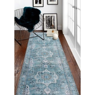 Machine Made Zani Teal Rug