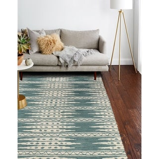 Hand Tufted Bloomfield Teal Rug