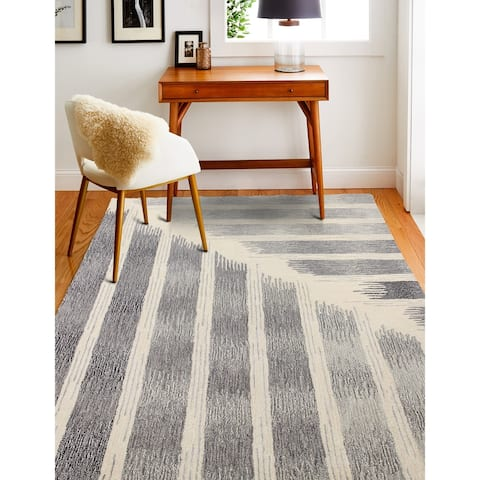 Moses Contemporary Hand Tufted Area Rug