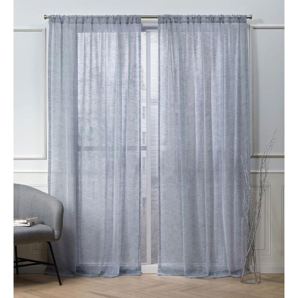 Nicole Miller Belfry Sheer Rod Pocket Top Curtain Panel Pair