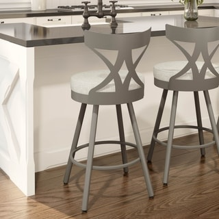 The Gray Barn Kingsler Park Grey and Beige Metal Swivel Stool