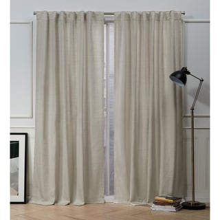 Link to Nicole Miller Mellow Slub Textured Hidden Tab Top Panel Pair Similar Items in Window Treatments