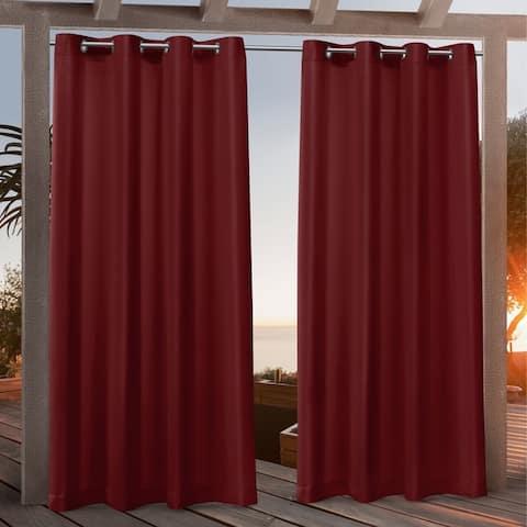 Nicole Miller Canvas Outdoor Grommet Top Curtain Panel Pair