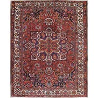"The Curated Nomad Langton Antique Bakhtiari Hand-knotted Wool Persian Heirloom Item Area Rug - 13'11"" x 11'3"""
