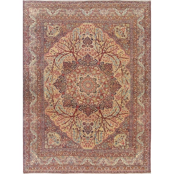 "The Curated Nomad Gregorini Medallion Handmade Wool Heirloom Item Area Rug - 14'3"" x 10'9"""