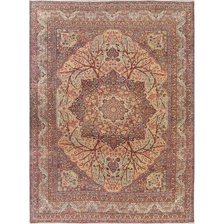 The Curated Nomad Gregorini Medallion Handmade Wool Heirloom Item Area Rug - 14'3 x 10'9