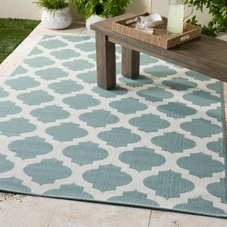"Bartolo Moroccan Indoor/ Outdoor Area Rug - 5'3"" Round"