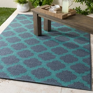 "The Gray Barn Crooked Creek Moroccan Indoor/Outdoor Area Rug - 5'3"" Round"
