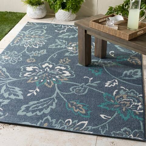 "Cesarina Floral Indoor/ Outdoor Area Rug - 8'9"" Square"