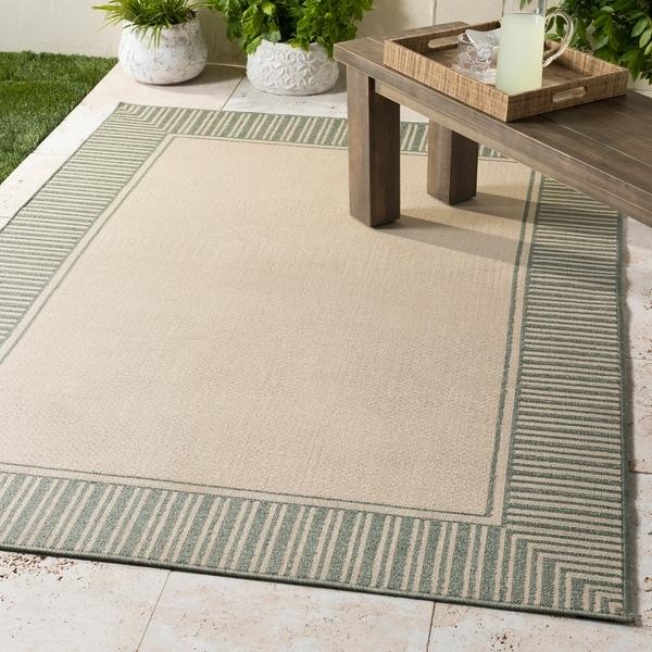 """Felice Border Indoor/ Outdoor Area Rug - 7'3"""" Square"""