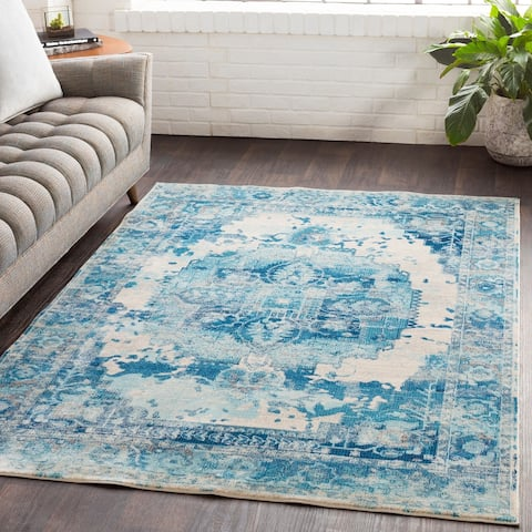 "Sonam Oriental Distressed Traditional Area Rug - 6'7"" x 9'"