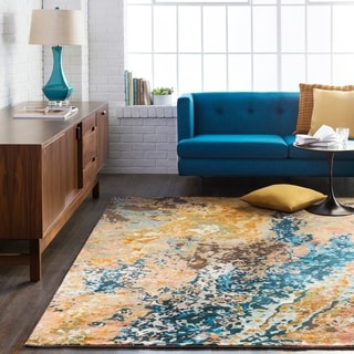 Hand-Knotted Heywood Abstract Viscose Area Rug - 10' x 14'