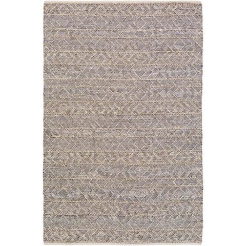 Lewis Handmade Boho Viscose & Wool Area Rug