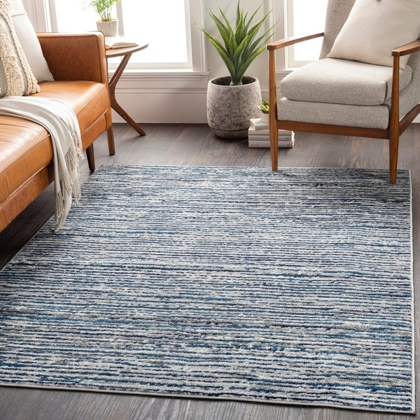 Albi Contemporary Stripes Area Rug. Opens flyout.