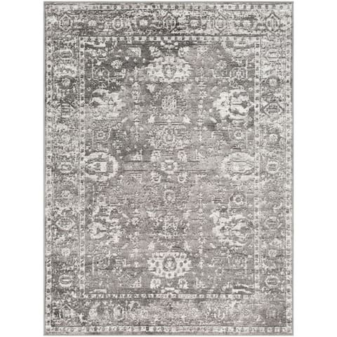 Reimes Distressed Traditional Area Rug