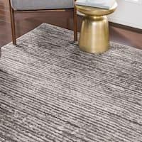 Albi Striped Contemporary Area Rug - 6'7 x 9'