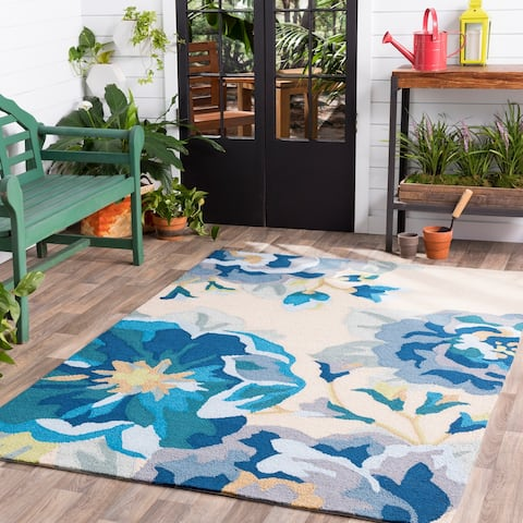 Hand-Hooked Deon Floral Area Rug - 12' x 15'