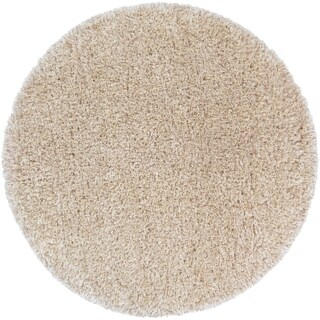 "Hand-Woven Solid Shag Corang Rug - 7'10"" Round"