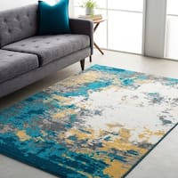"""Avery Abstract Watercolor Area Rug - 6'7"""" x 9'"""