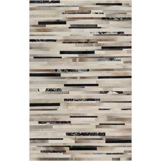 Hand-Crafted Leather Animal Hide Ancona Area Rug - 9' x 13'