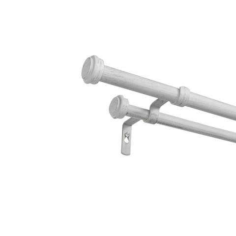 ATI Home Topper Double Curtain Rod and Finial Set