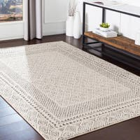 Overstock.com deals on The Curated Nomad Schneider Bohemian Border Area Rug 6.7-ft x 9ft
