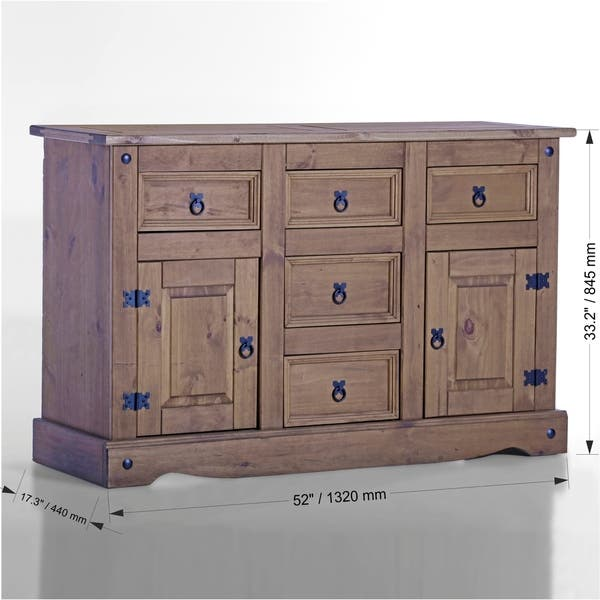 Shop Corona 2 Door/ 5 Drawer Wood Dining Room Buffet - On ...