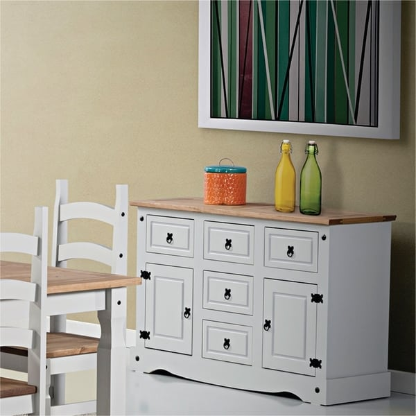 Madison 2 Door/ 5 Drawer Wood Dining Room Buffet. Opens flyout.