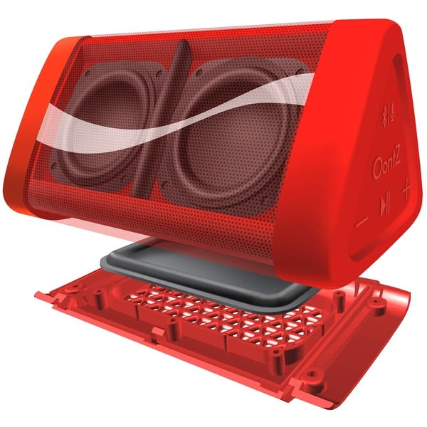 Shop Oontz Angle 3 Coca Cola Edition Ipx5 Splashproof Bluetooth Speaker With Volume Boost 100 Range Bluetooth 4 2 Overstock 27598995