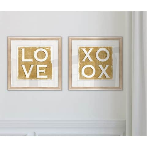 Wexford Home 'Love' 2-piece Glicee Print Framed Set