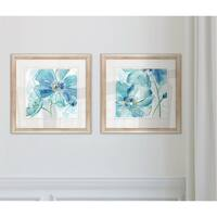 Wexford Home 'Blue Spring Poppy I' Framed Set