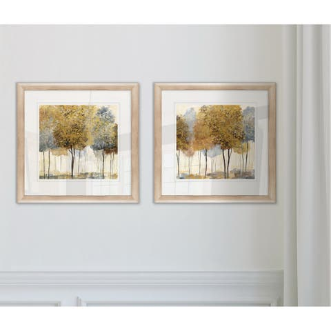 Wexford Home 'Metallic Forest I' Framed Set