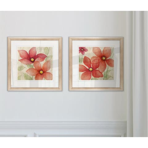 'Spring Embrace I' Framed Wall Art (Set of 2)