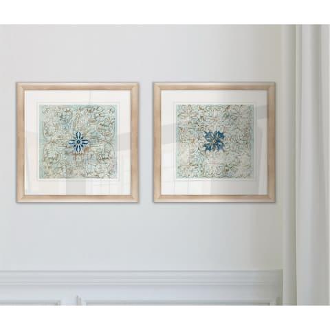 'Medallion' Framed Wall Art (Set of 2)