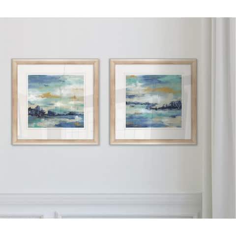 'Sea Isle I' - Framed Wall Art (Set of 2)