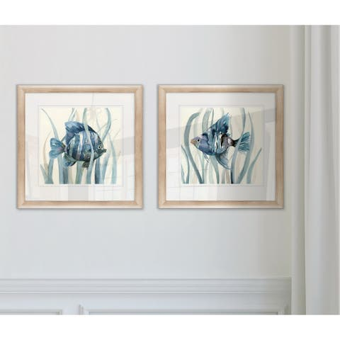 Wexford Home 'Fish in Seagrass I' Framed Giclee Print Set