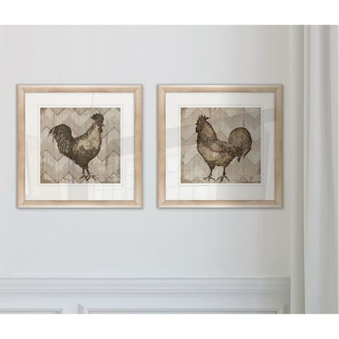 Wexford Home 'Well Read Rooster' Framed Prints (Set of 2)
