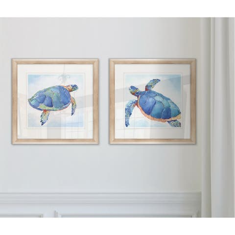 Wexford Home 'Galapagos Sea Turtle I' Framed Set