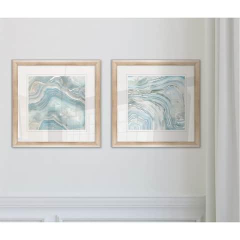 'Agate in Blue I' Framed Art Set