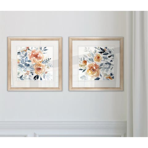 'Flowering Branches I' Framed Wall Art (Set of 2)